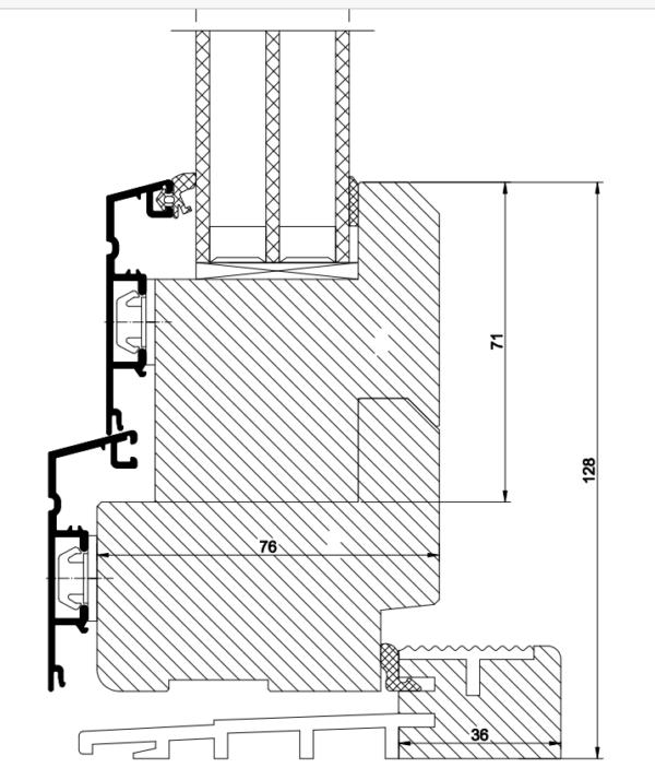 priser altandörr aluminiumbeklädnad med aluminiumtröskel