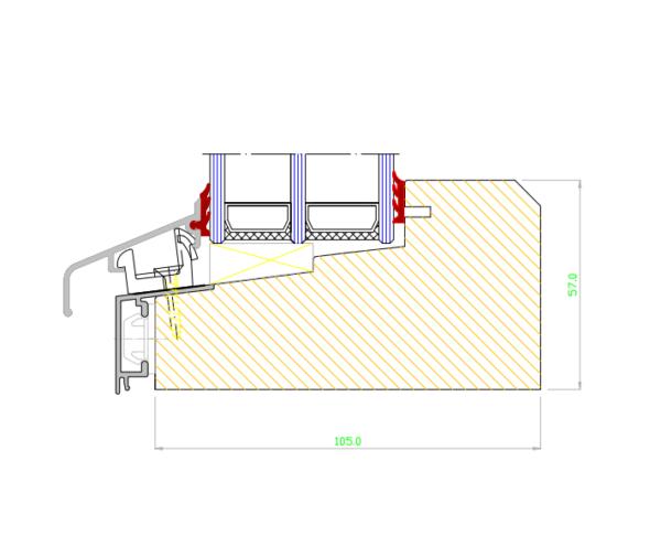 fast träfönster med aluminium
