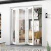 Priser Vikdörrar vikparti fasad uterum vinterisolerat trä med aluminiumutsida öppnas utåt, 3 glas