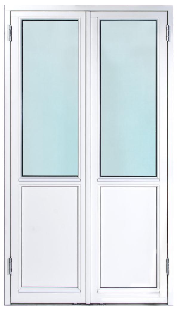 Pris Dubbel Fönsterdörr bröstad, pardörr parfönsterdörr bröstning 3 glas